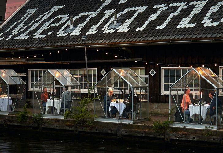 Holanda: restaurante invernadero