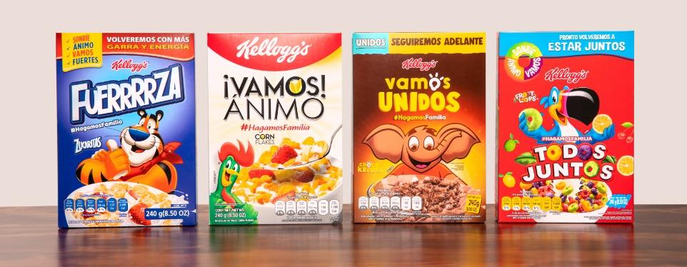 Kellogg cambia sus cajas