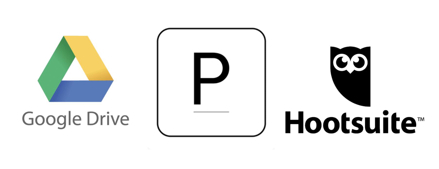 Logo Drive Logo Planoly Logo Hootsuite