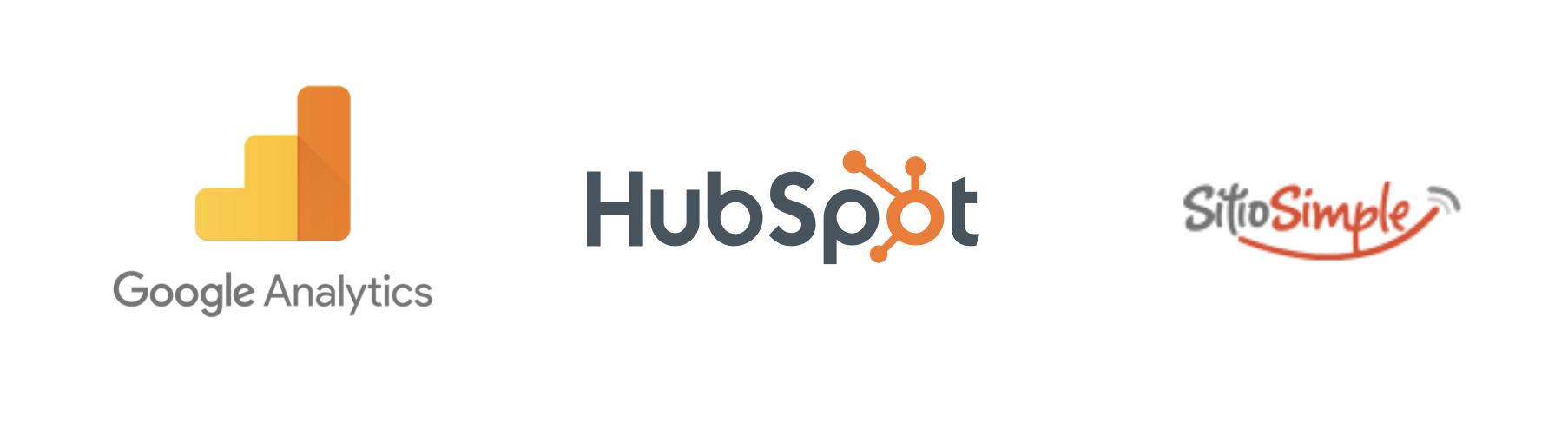 logo analytics logo hubspot logo sitiosimple