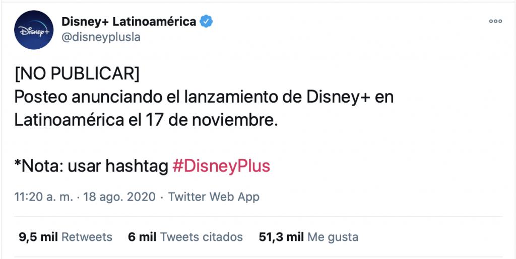 Error de Disney en lanzamiento