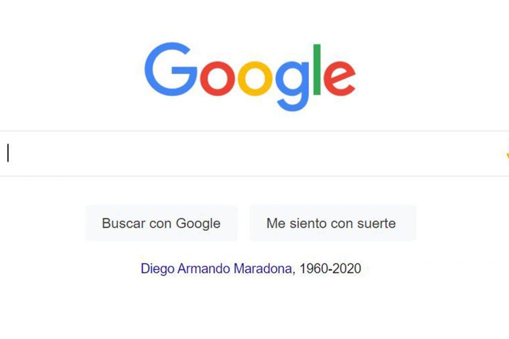 Google y su acceso directo a Maradona