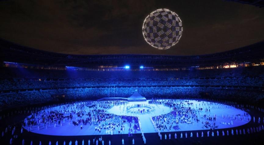show drones en Juegos Olímpicos Tokio 2020