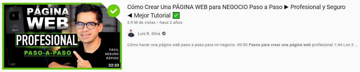 Ejemplo de clickbait en títulos y descripciones de Youtube.